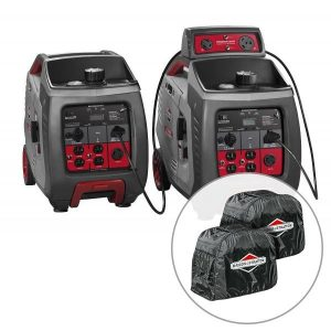 2 x Briggs & Stratton 3000w Inverter Generator with Parallel Kit (Combined 4800 Watts), 3 Year Warranty