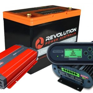 Revolution 100Ah Lithium Battery + Redarc Manager30 + 1000W Inverter Solution, 3 Year Warranty