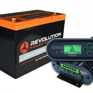 Revolution 100Ah Lithium Battery + Redarc Manager30 Charging Solution, 3 Year Warranty