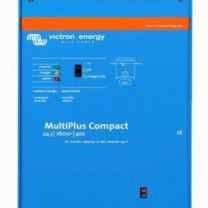 Victron Multiplus Compact Inverter Charger 24/1600/40-16 with 16A AC Transfer Switch, 5 Year Warranty