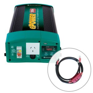 Enerdrive ePOWER 2000W 24V Pure Sine Wave Inverter and RCD & AC Transfer Switch with DC Cable Pack, 5 Year Warranty